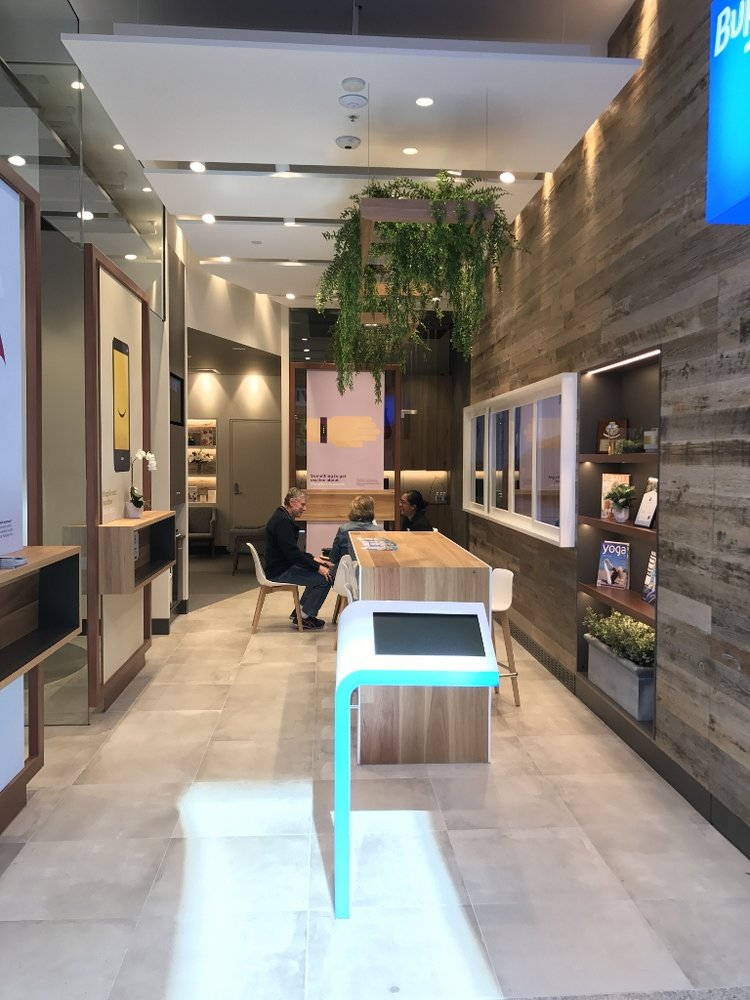 retail space with downlights'